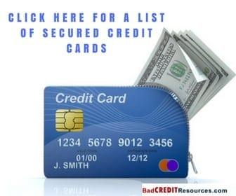 list of secured credit cards