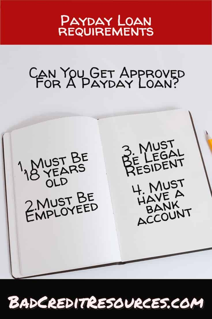 Can YOU be approved for a payday loan? Here are the requrirements!