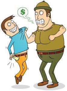 aggressive debt collector