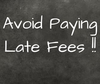 avoid paying late fees