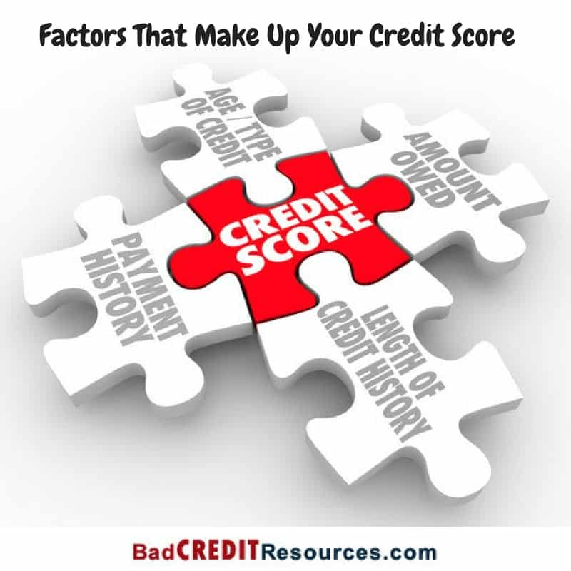 factors that make up your credit score