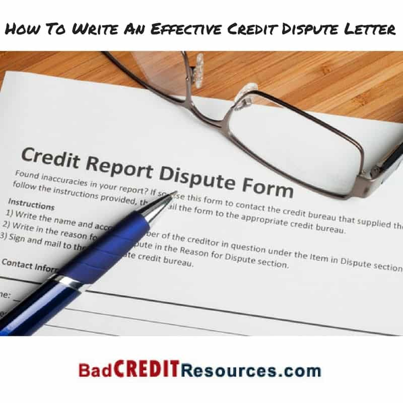 How To Write An Effective Credit Dispute Letter ver 4