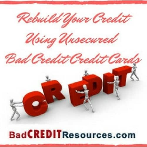 bad credit credit cards unsecure