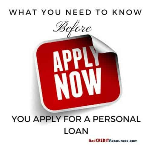 what you should know BEFORE you apply for a bad credit personal loan