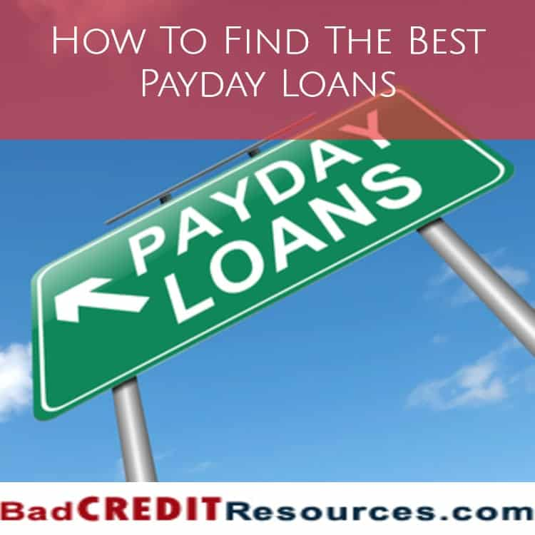 how to find the best payday loans