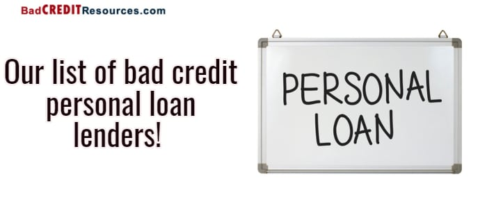 bad credit personal loan lenders